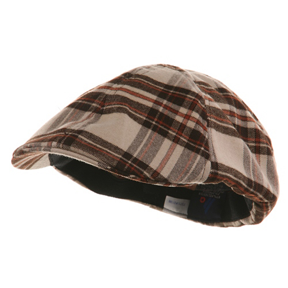 Plaid Design Ivy Cap - Khaki Brown - Hats and Caps Online Shop - Hip Head Gear