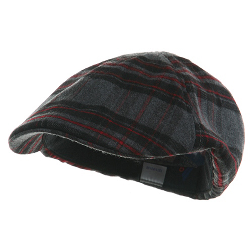 Plaid Design Ivy Cap - Black Red - Hats and Caps Online Shop - Hip Head Gear