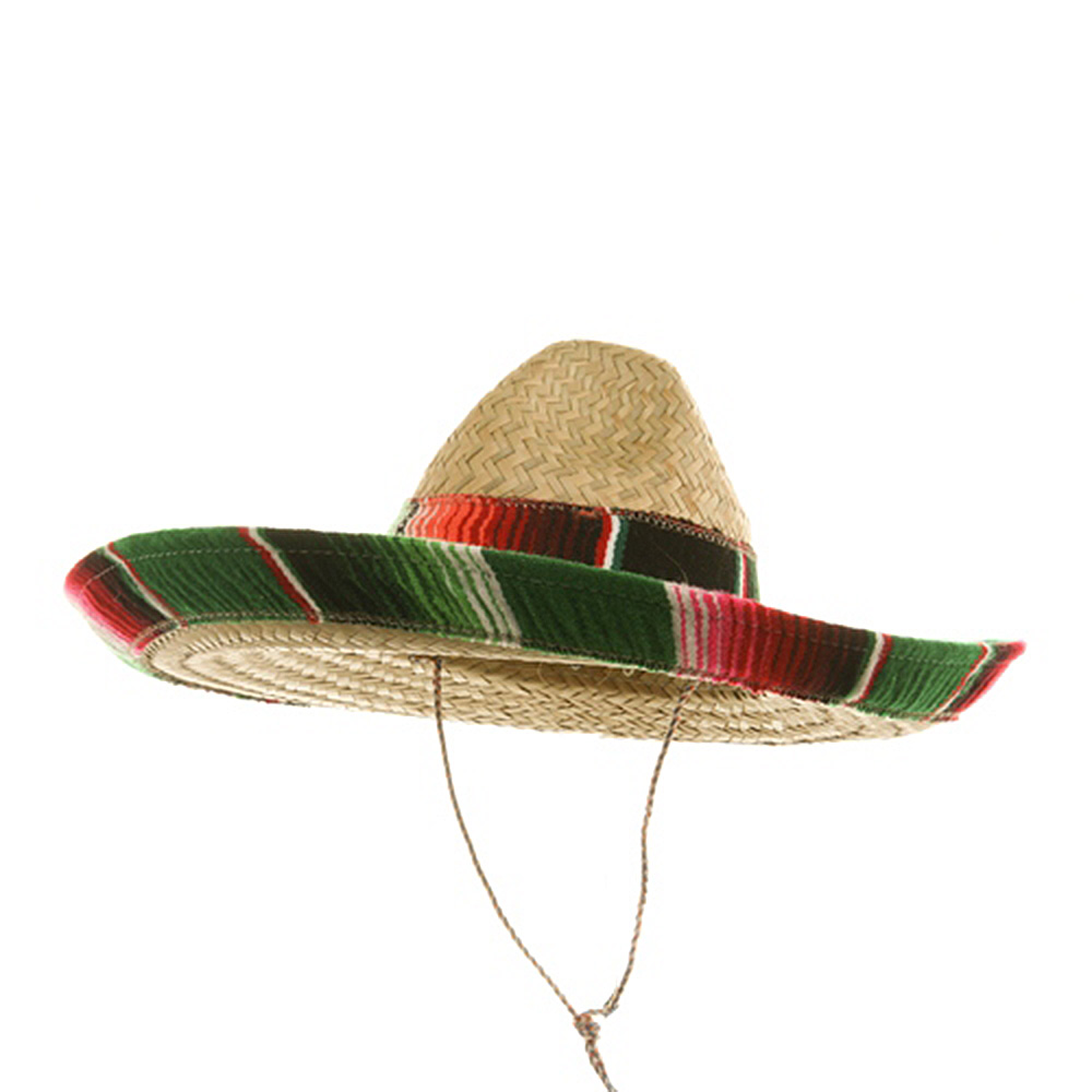Child Serape Band Sombrero - Red Green Blue - Hats and Caps Online Shop - Hip Head Gear