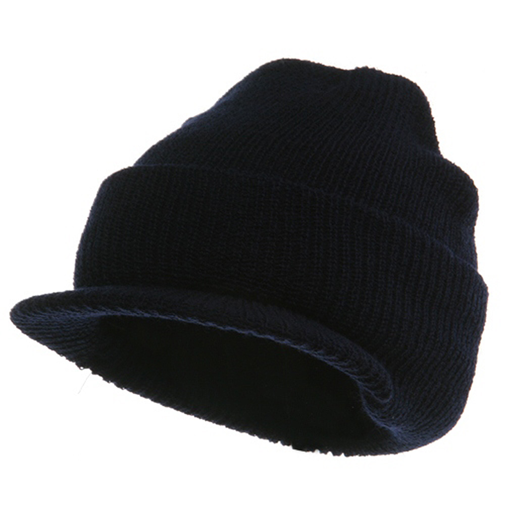Military Wool Jeep Cap - Navy - Hats and Caps Online Shop - Hip Head Gear