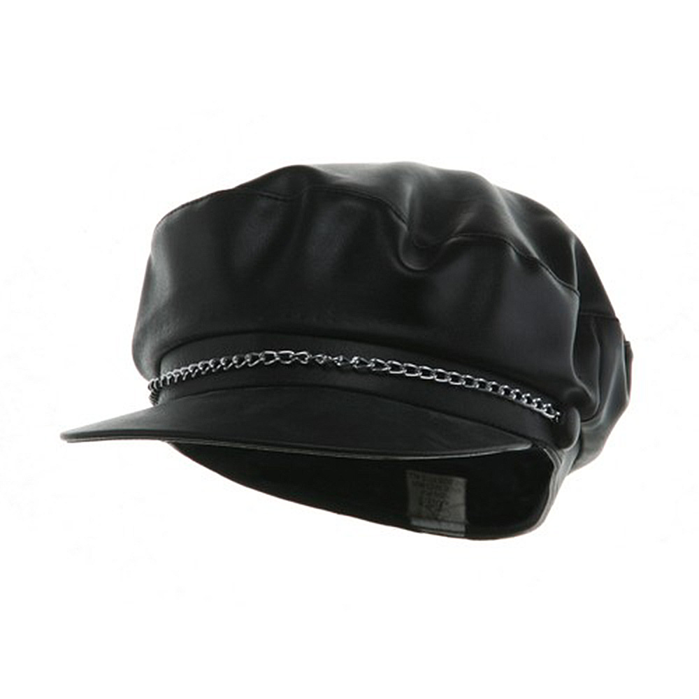 Vinyl Bikers Cap - Black - Hats and Caps Online Shop - Hip Head Gear