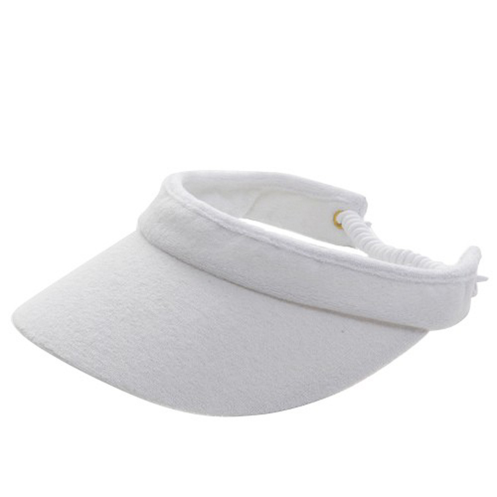 Athletic Terry Cloth Visor #8 - White - Hats and Caps Online Shop - Hip Head Gear