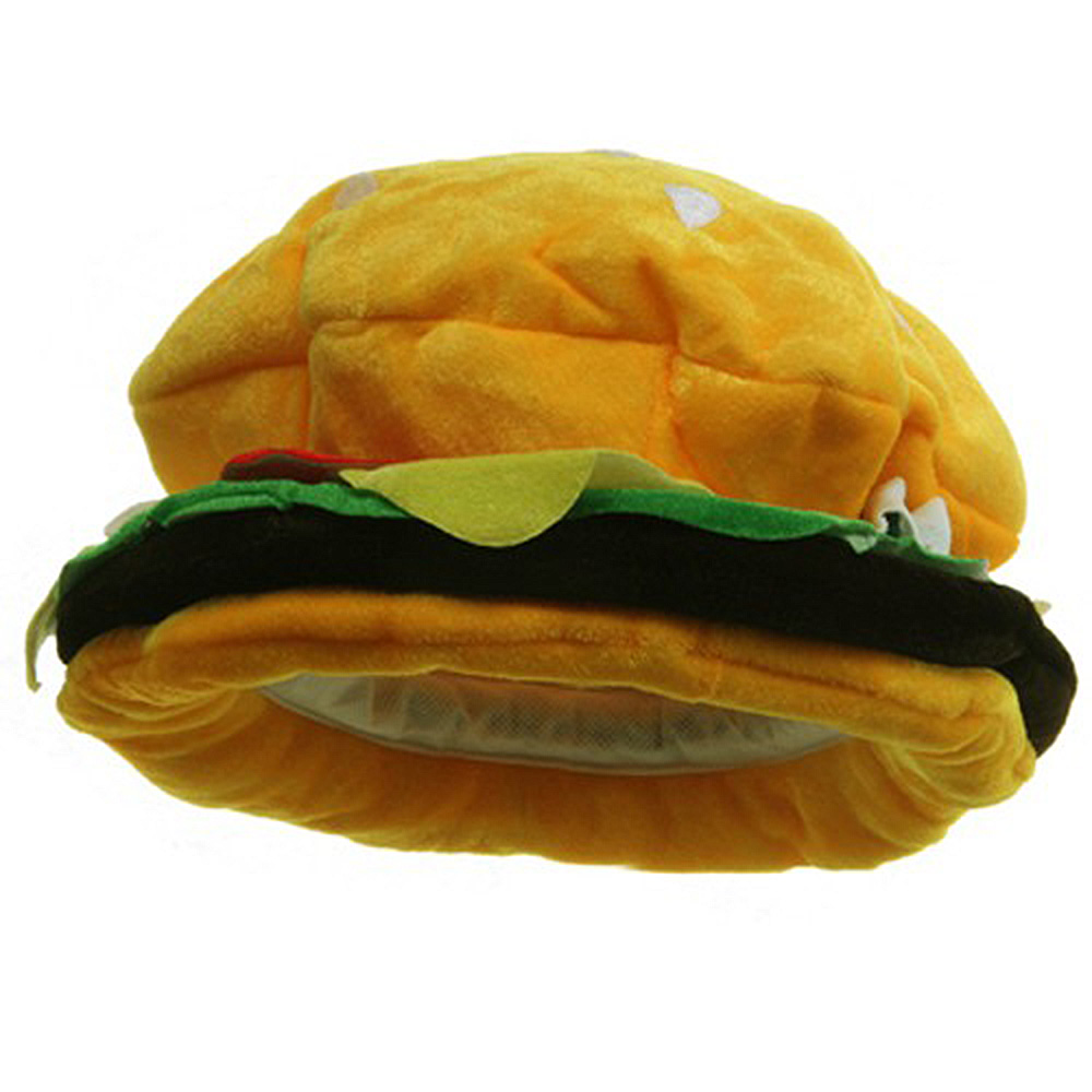 Velvet Hamburger Hat - Yellow - Hats and Caps Online Shop - Hip Head Gear