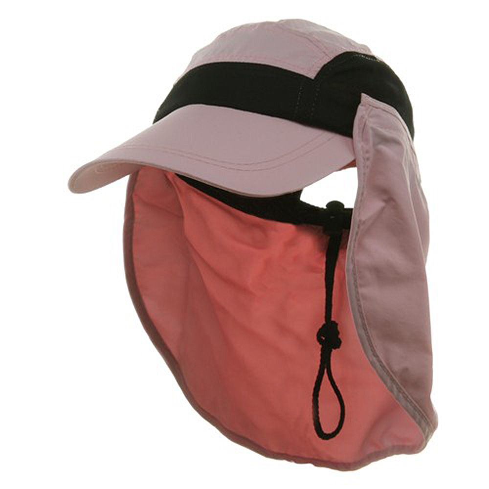 Ladies Removable Neck Guard Hat - Pink - Hats and Caps Online Shop - Hip Head Gear