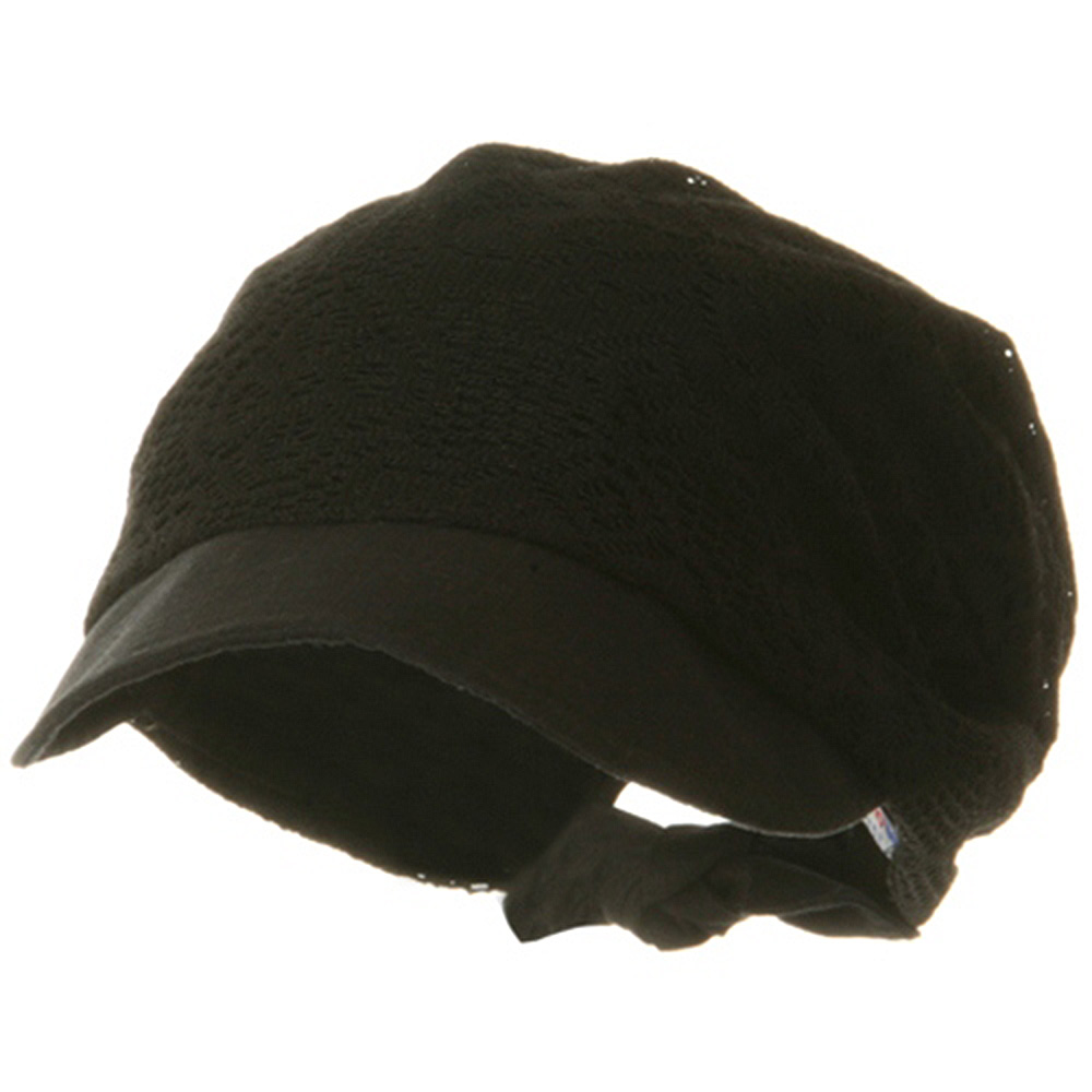 Ladies Jacquard Mesh Hat - Black - Hats and Caps Online Shop - Hip Head Gear
