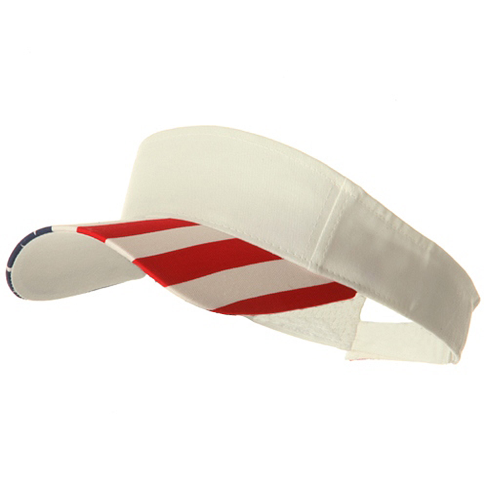 USA Flag Visor-White Flag - Hats and Caps Online Shop - Hip Head Gear