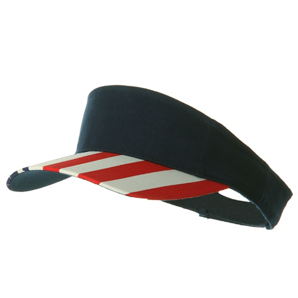 USA Flag Visor-Navy Flag - Hats and Caps Online Shop - Hip Head Gear
