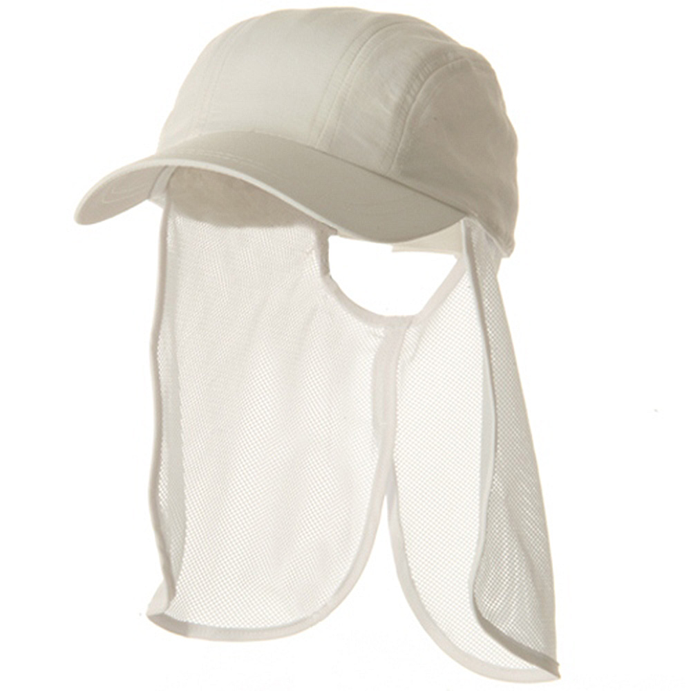 UV 5 Panel Tuck Away Flap Cap - White - Hats and Caps Online Shop - Hip Head Gear