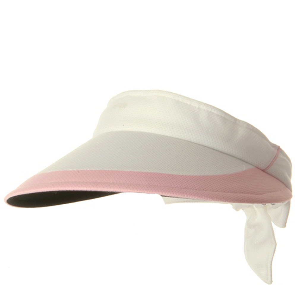 Athletic Mesh Large Peak Visor - White Pink - Hats and Caps Online Shop - Hip Head Gear
