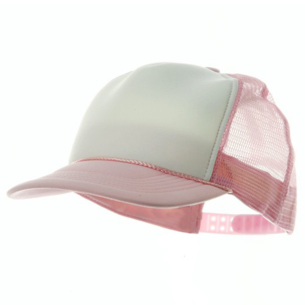 Youth Polymesh Cap - White Pink - Hats and Caps Online Shop - Hip Head Gear