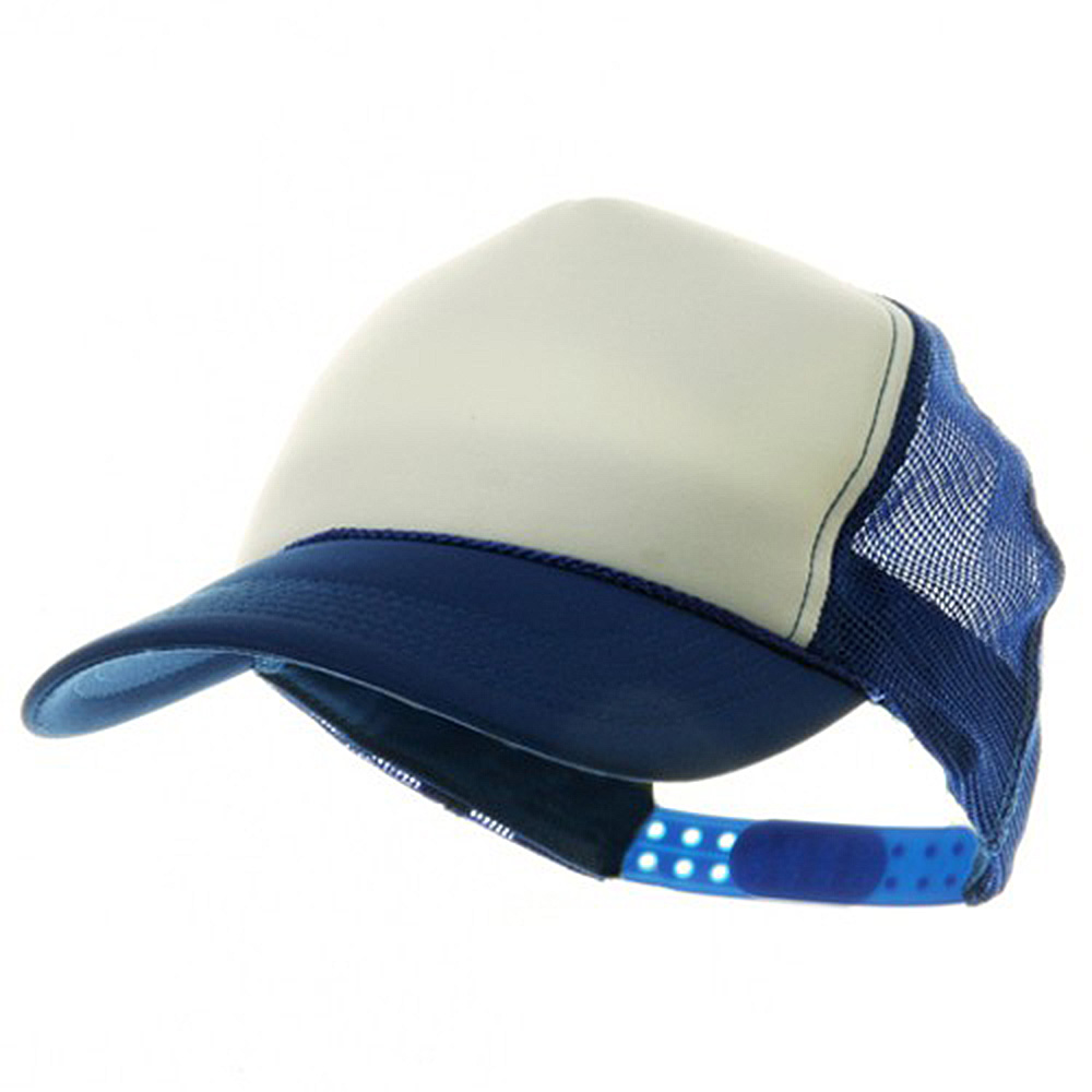 Youth Polymesh Cap - White Royal - Hats and Caps Online Shop - Hip Head Gear