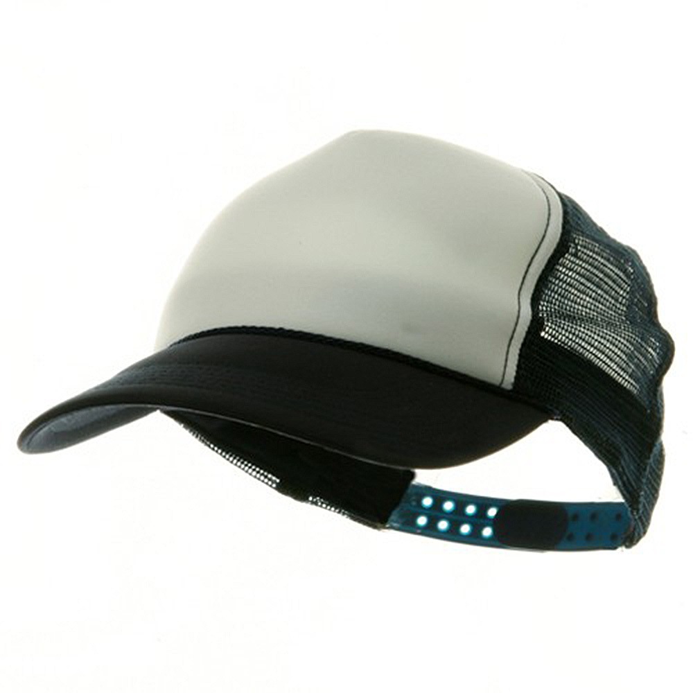 Youth Polymesh Cap - White Navy - Hats and Caps Online Shop - Hip Head Gear