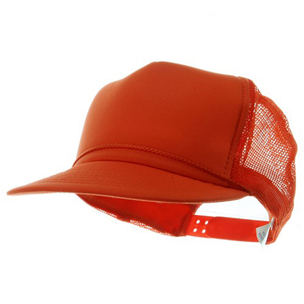 Youth Polymesh Cap - Orange - Hats and Caps Online Shop - Hip Head Gear