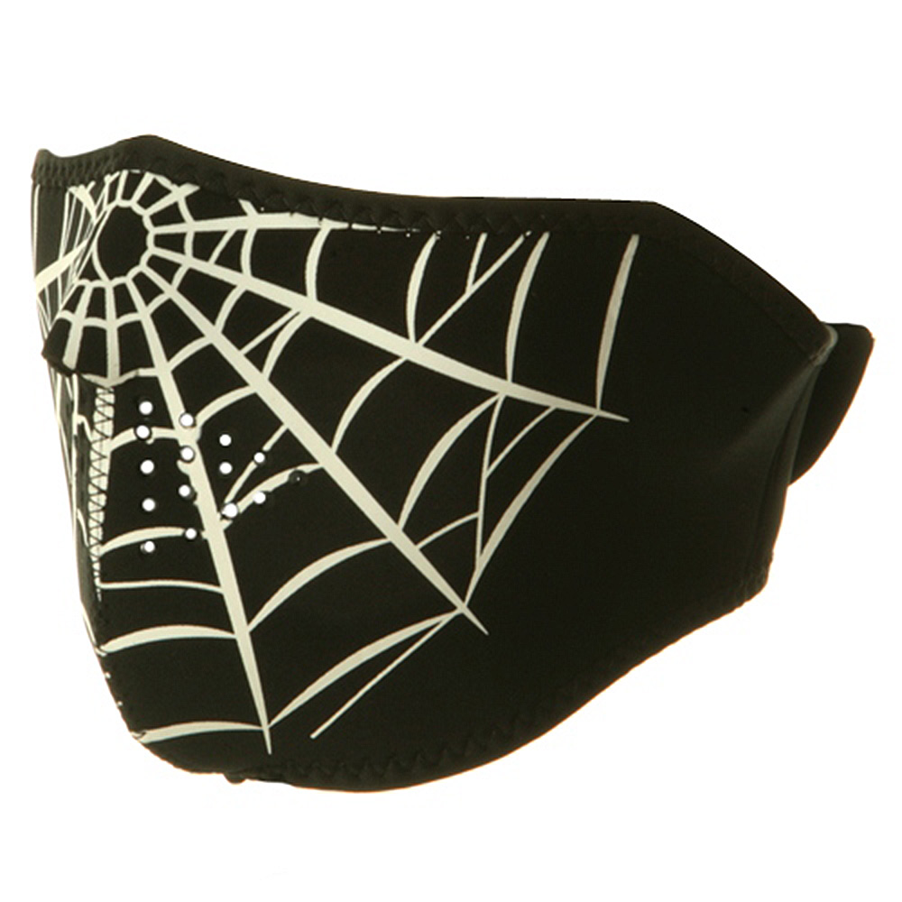 Neoprene Half Face Mask - Spider Web - Hats and Caps Online Shop - Hip Head Gear
