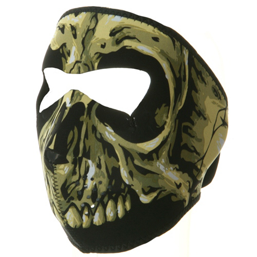 Neoprene Full Face Mask - Skull Yellow - Hats and Caps Online Shop - Hip Head Gear