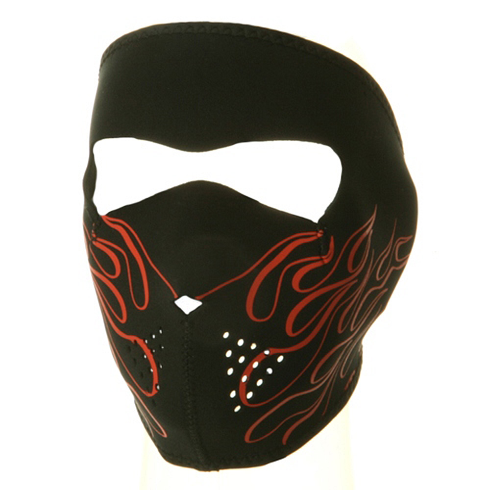 Neoprene Full Face Mask - Orange Flame - Hats and Caps Online Shop - Hip Head Gear