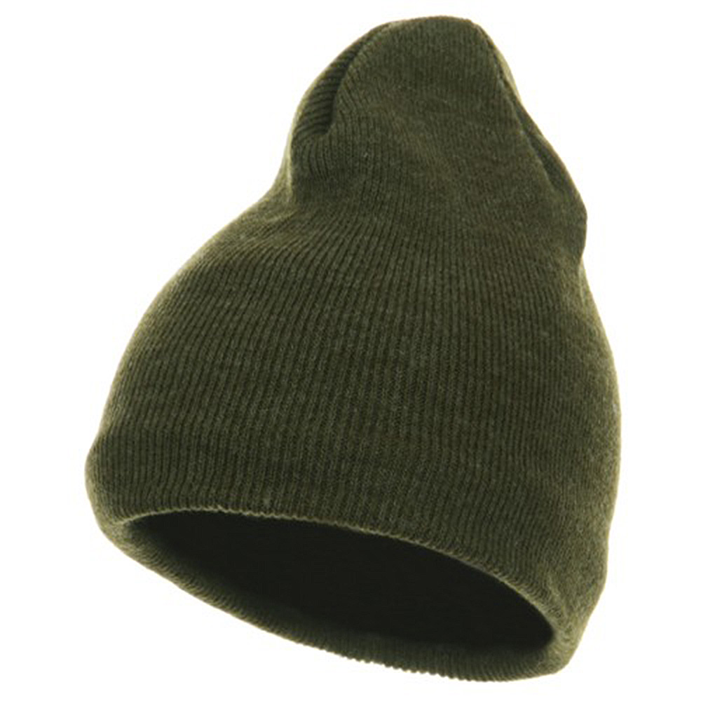 Fleece-Lined Plain Beanie - Olive - Hats and Caps Online Shop - Hip Head Gear