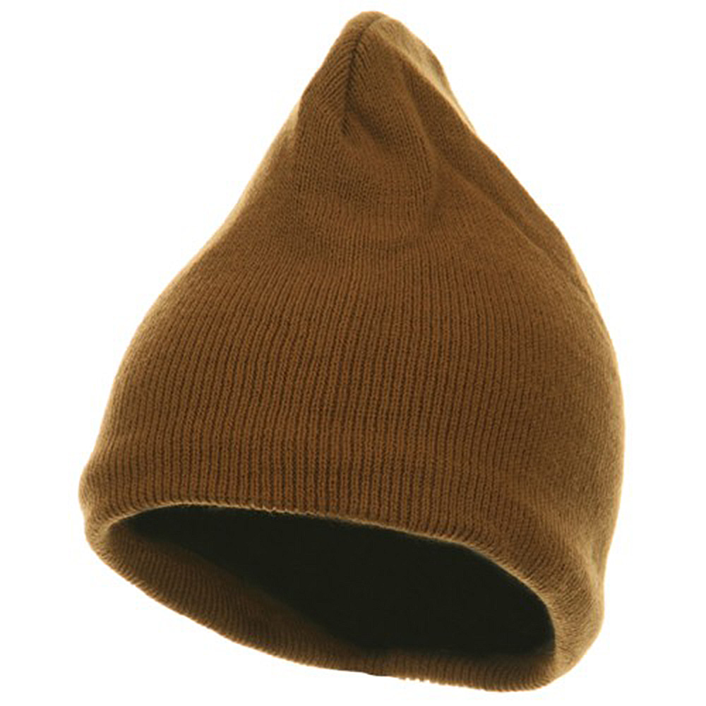Fleece-Lined Plain Beanie - Camel - Hats and Caps Online Shop - Hip Head Gear