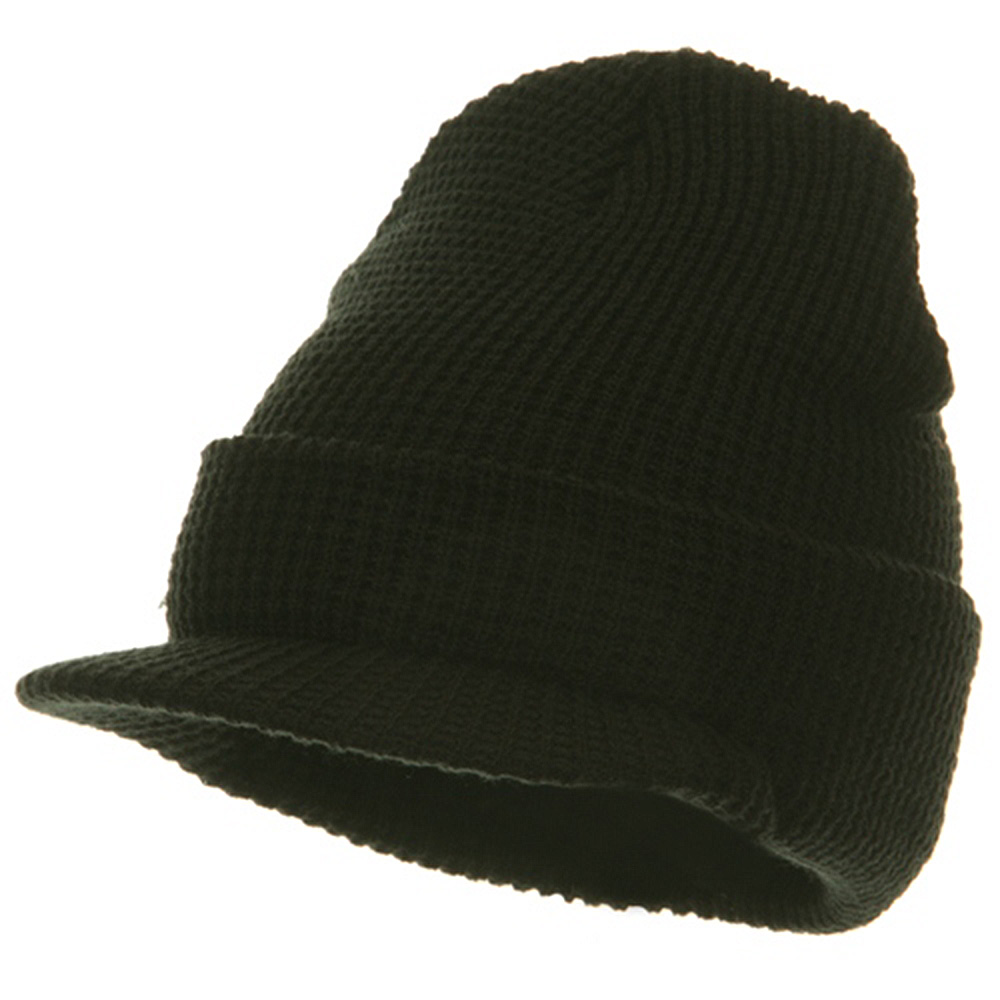 Thermal Stitch Jeep Beanie Visor - Black - Hats and Caps Online Shop - Hip Head Gear