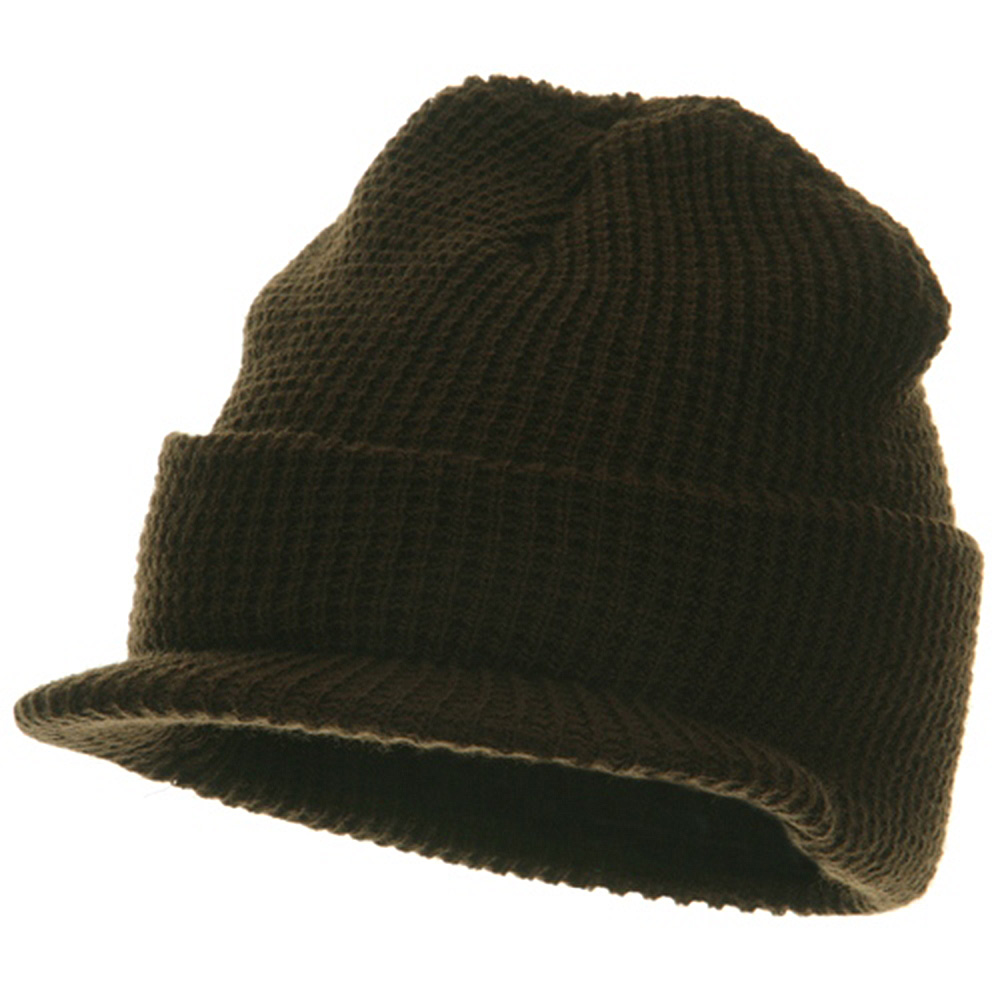 Thermal Stitch Jeep Beanie Visor - Brown - Hats and Caps Online Shop - Hip Head Gear