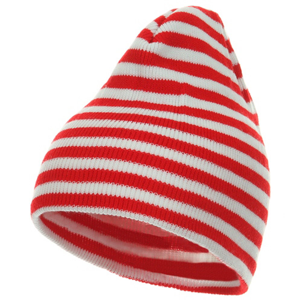 Trendy Striped Beanie - Red White - Hats and Caps Online Shop - Hip Head Gear