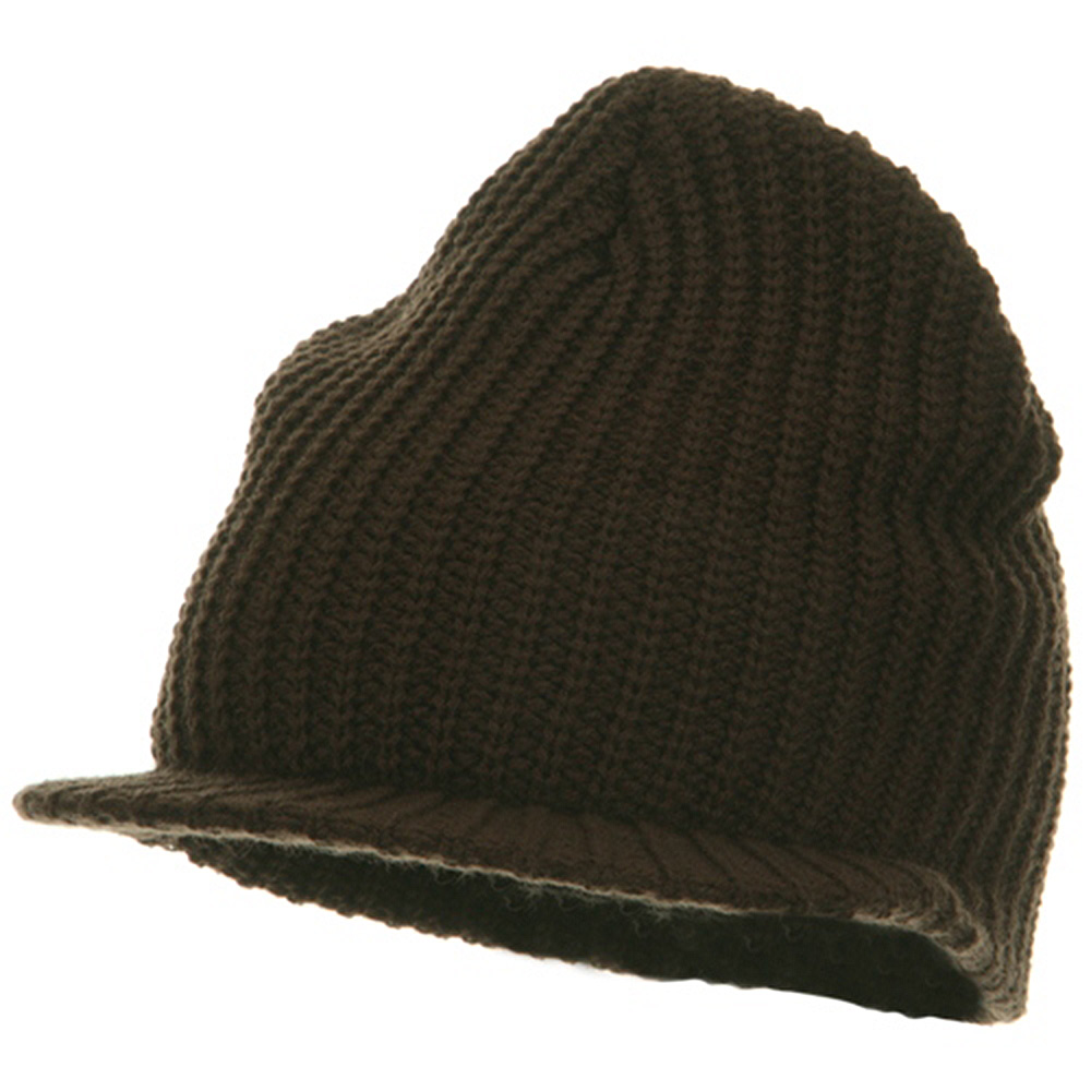 Lumberjack Jeep Beanie Visor - Brown - Hats and Caps Online Shop - Hip Head Gear
