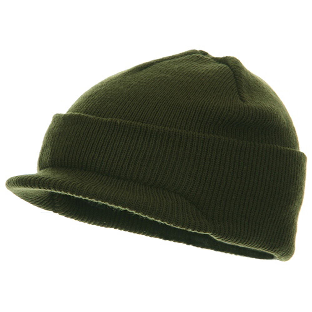Youth Beanie Jeep Cap - Olive - Hats and Caps Online Shop - Hip Head Gear