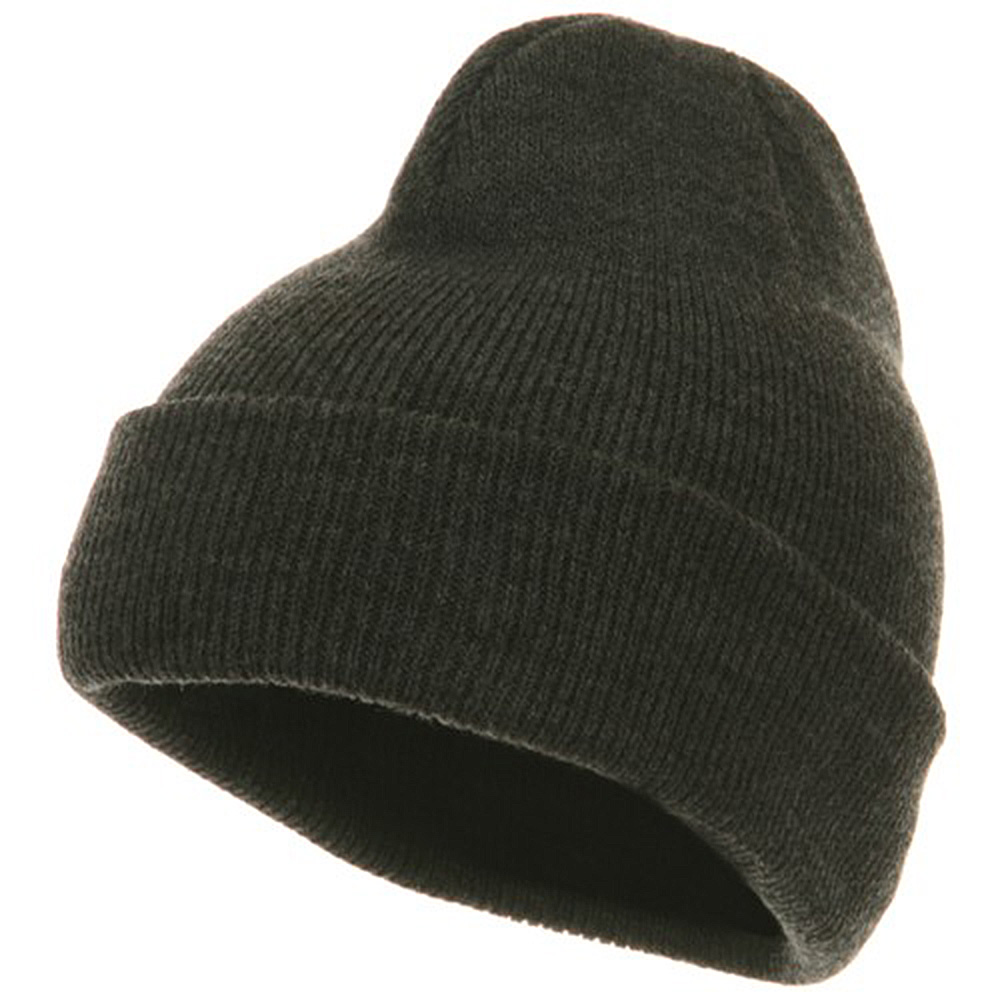 Youth Knit Cuff Beanie - Charcoal - Hats and Caps Online Shop - Hip Head Gear