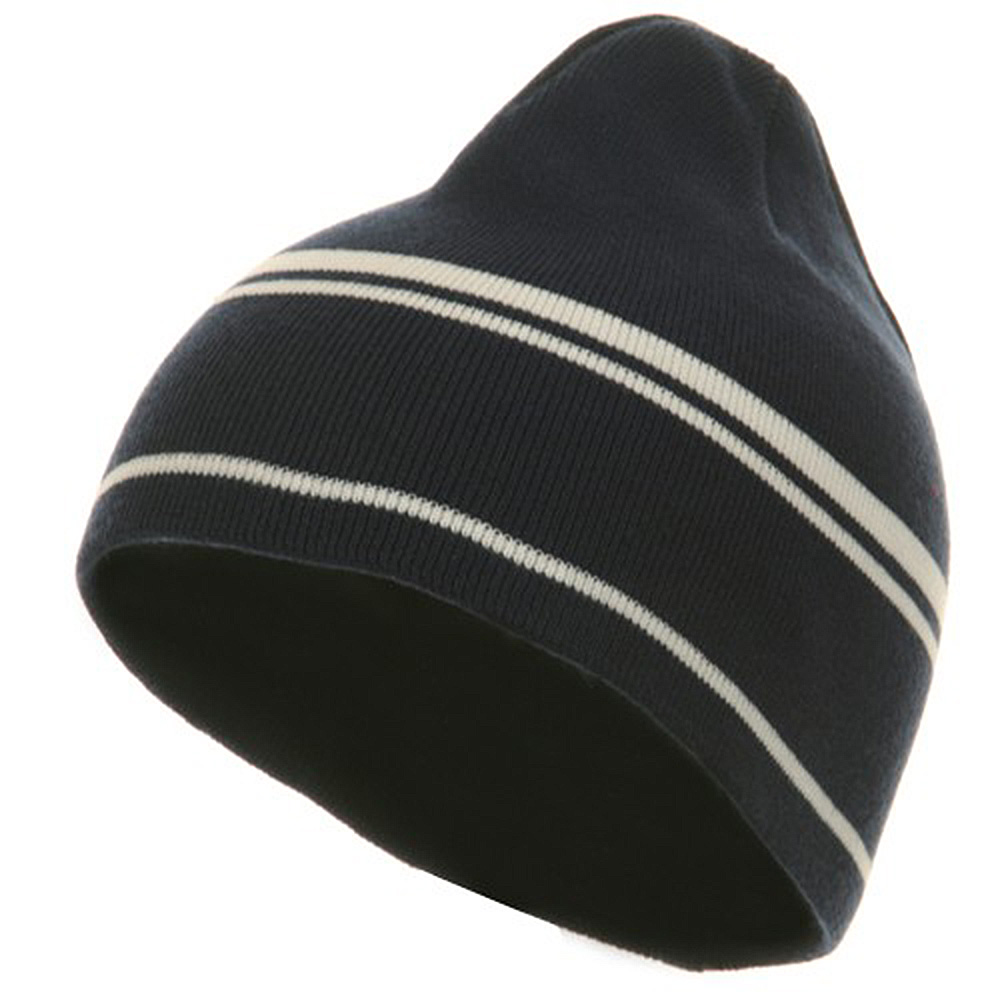 Moisture Wicking Beanie - Navy White - Hats and Caps Online Shop - Hip Head Gear