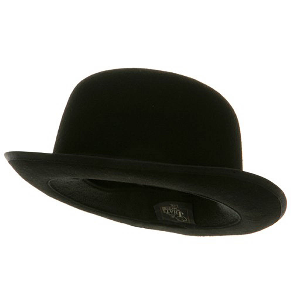 Wool Felt Derby Hat - Black Derby - Hats and Caps Online Shop - Hip Head Gear