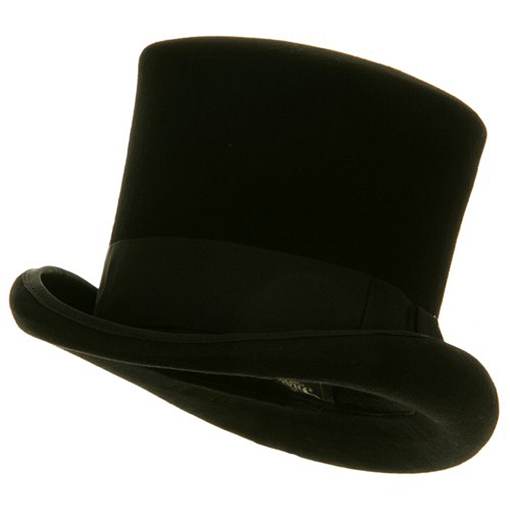 Wool Felt Top Hat Ribbon- Black Ribbon - Hats and Caps Online Shop - Hip Head Gear