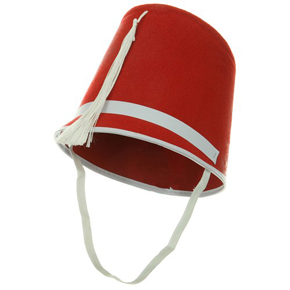 Felt Drum Major Hat - Red - Hats and Caps Online Shop - Hip Head Gear