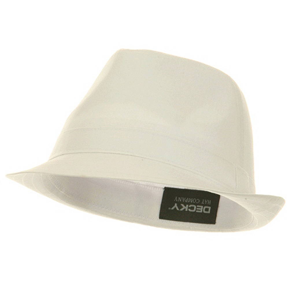 Basic Poly Woven Fedora Hats - White White - Hats and Caps Online Shop - Hip Head Gear