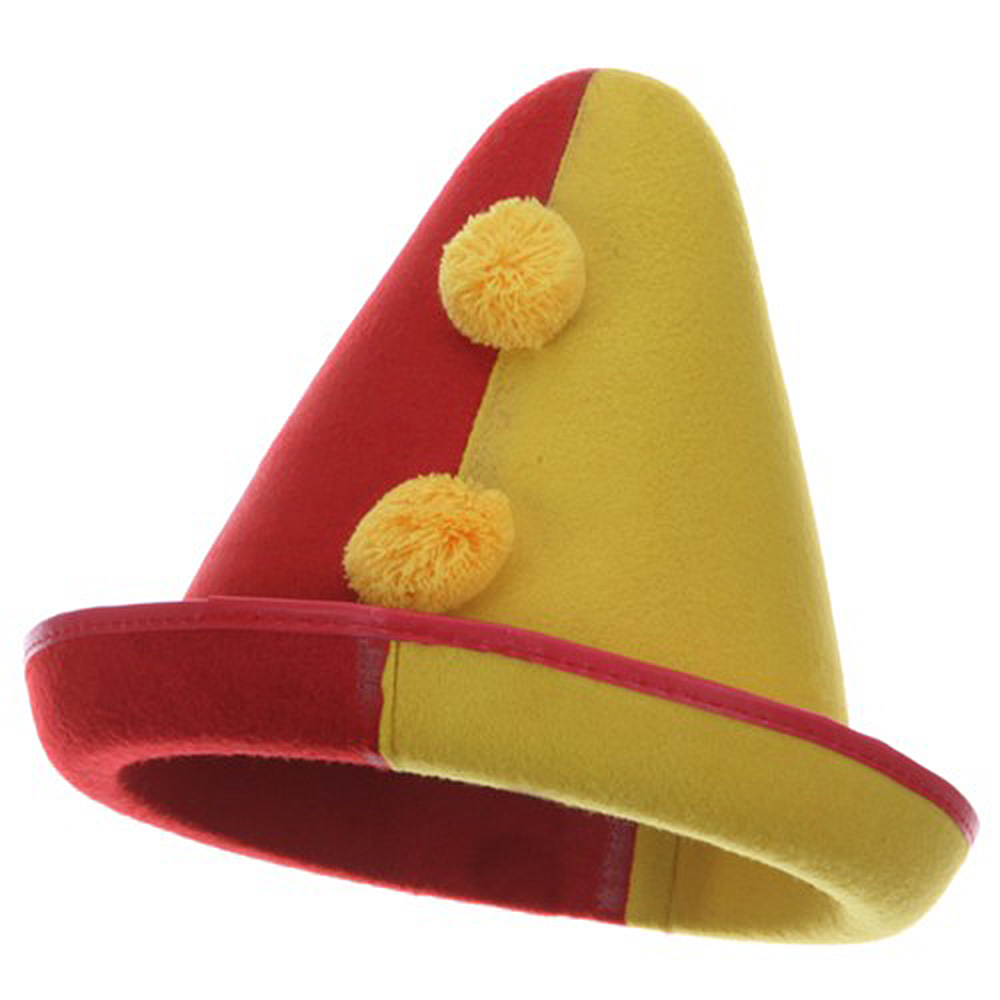 Felt Clown Hat - Red Yellow - Hats and Caps Online Shop - Hip Head Gear