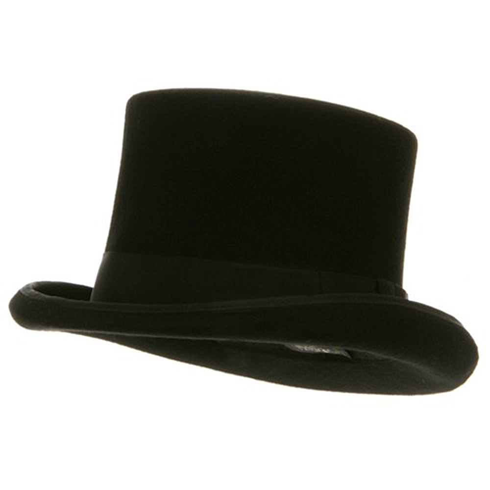 Wool Felt Flared Top Hat - Tall - Hats and Caps Online Shop - Hip Head Gear