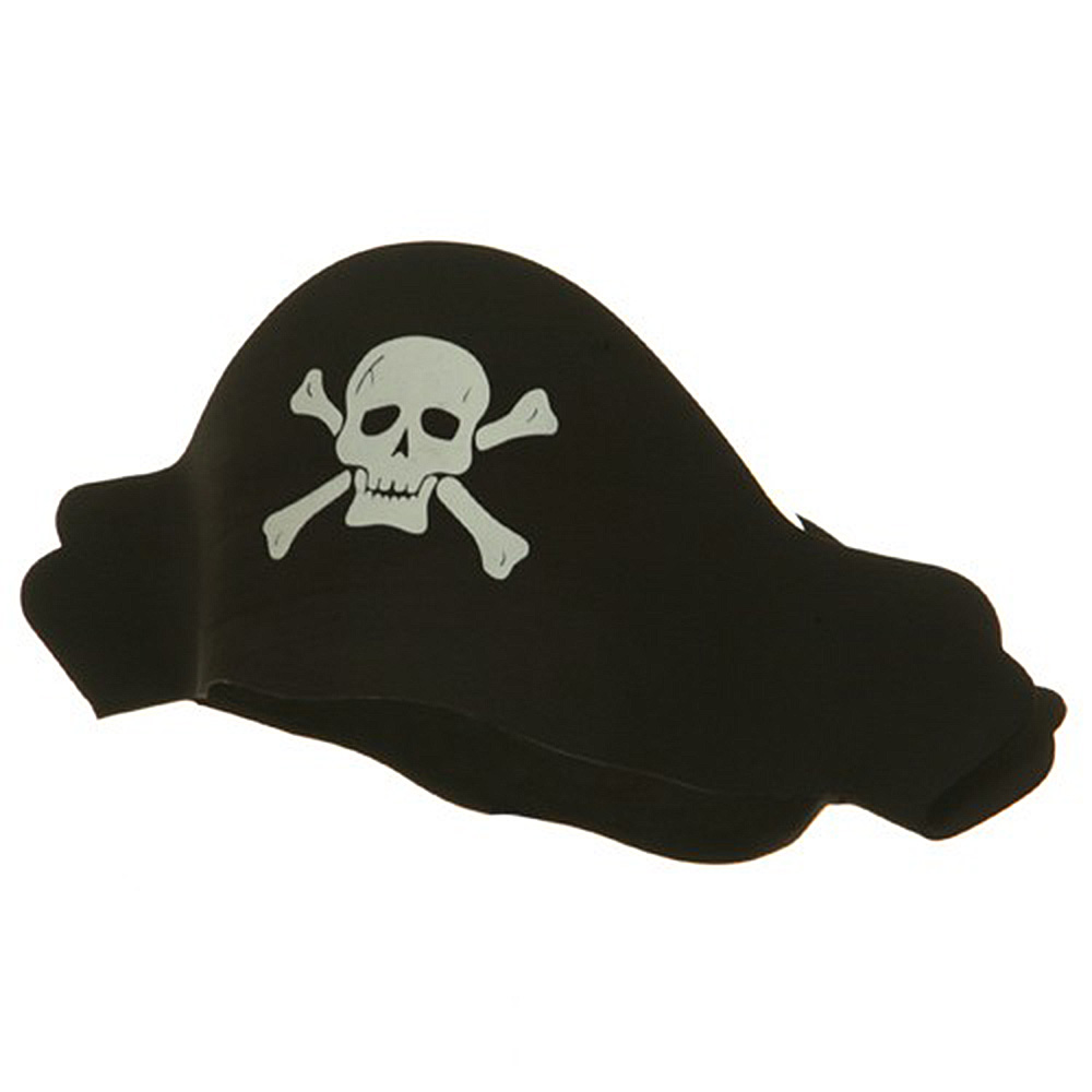 Crushable Black Pirate Hat - Foam - Hats and Caps Online Shop - Hip Head Gear
