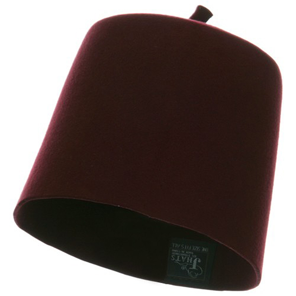 Wool Felt Fez Hat - Burgundy - Hats and Caps Online Shop - Hip Head Gear
