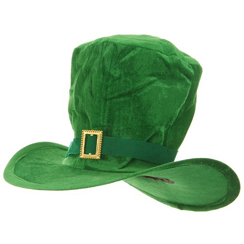 Green Velvet St. Pats Hat - Oversize - Hats and Caps Online Shop - Hip Head Gear