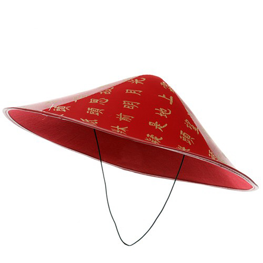Chinese Coolie Hat - Red - Hats and Caps Online Shop - Hip Head Gear