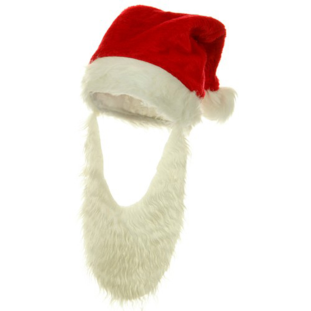 Plush Santa Hat -  Beard - Hats and Caps Online Shop - Hip Head Gear