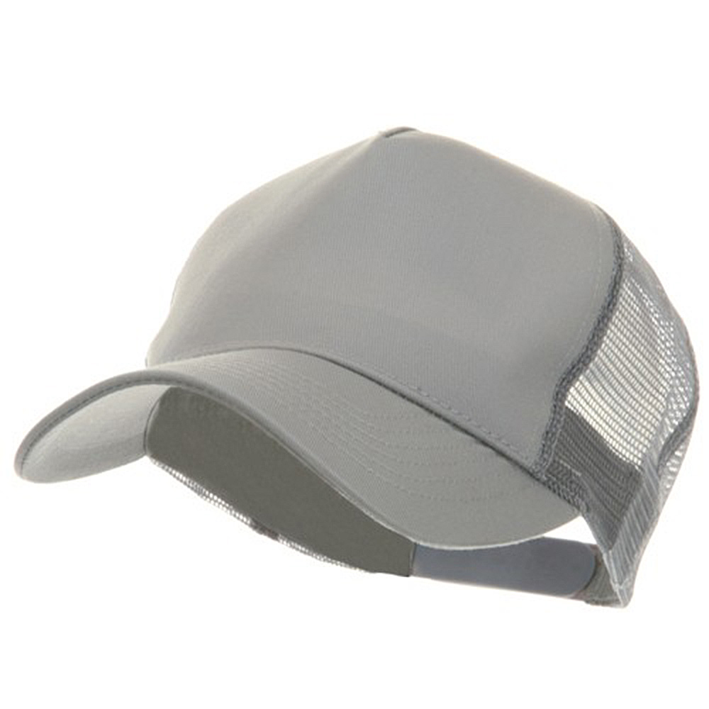 5 Panel Pet Spun Mesh Cap - Grey - Hats and Caps Online Shop - Hip Head Gear