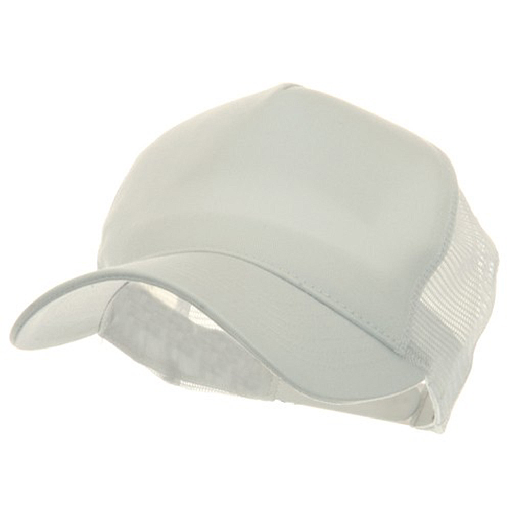 5 Panel Pet Spun Mesh Cap - White - Hats and Caps Online Shop - Hip Head Gear