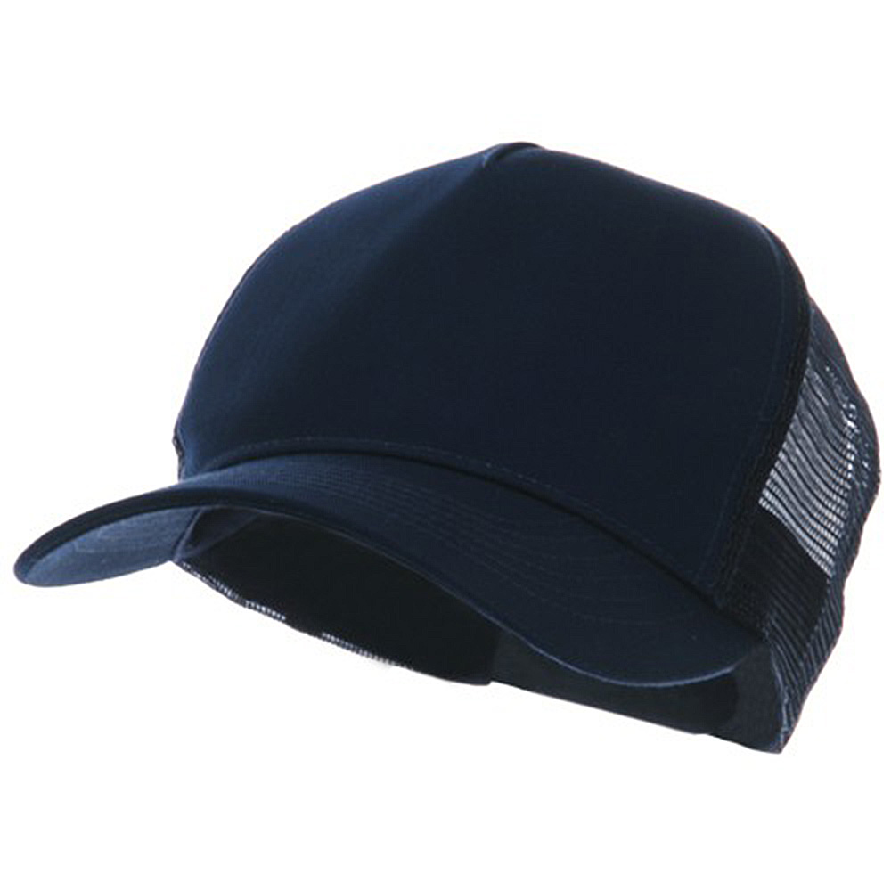 5 Panel Pet Spun Mesh Cap - Navy - Hats and Caps Online Shop - Hip Head Gear