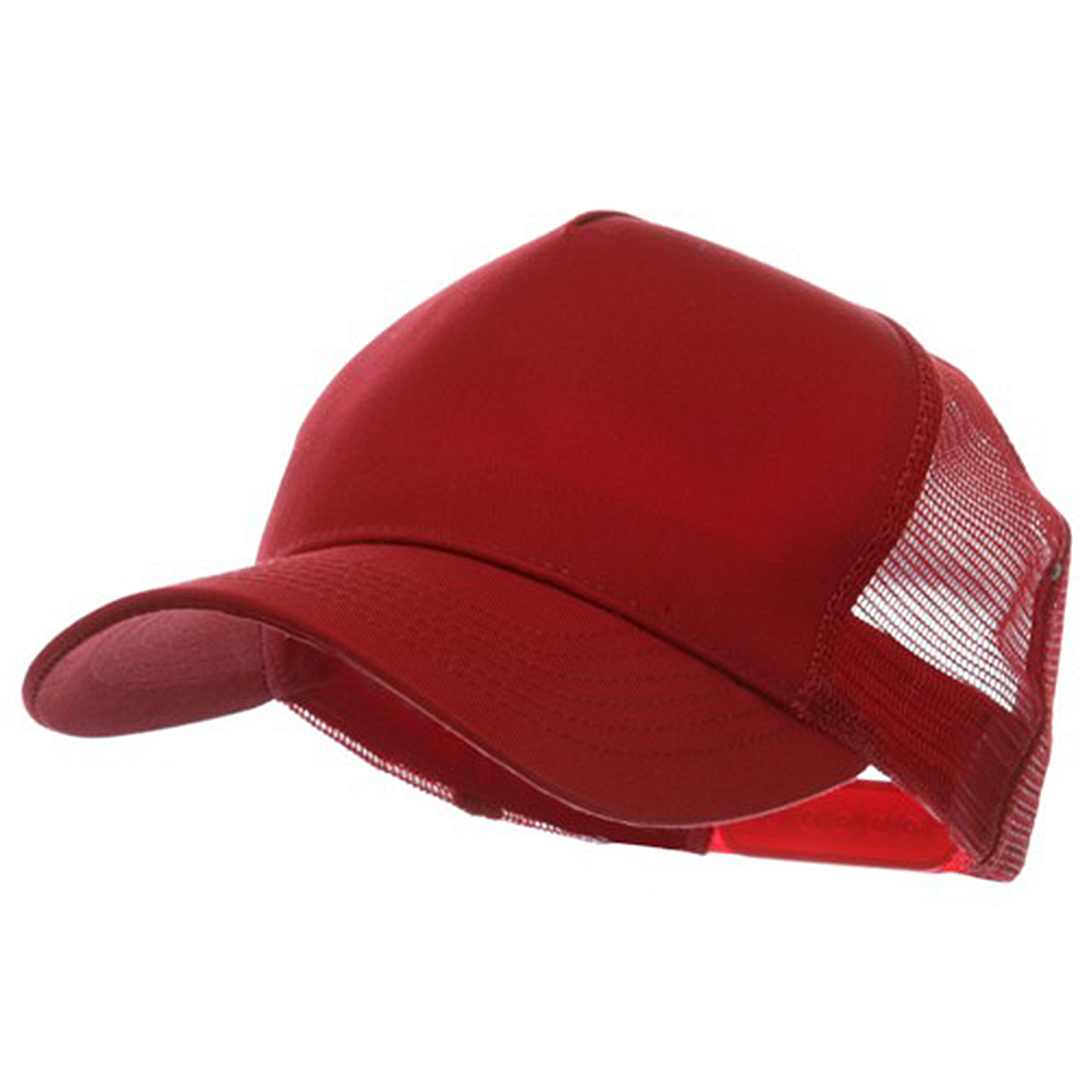5 Panel Pet Spun Mesh Cap - Red - Hats and Caps Online Shop - Hip Head Gear