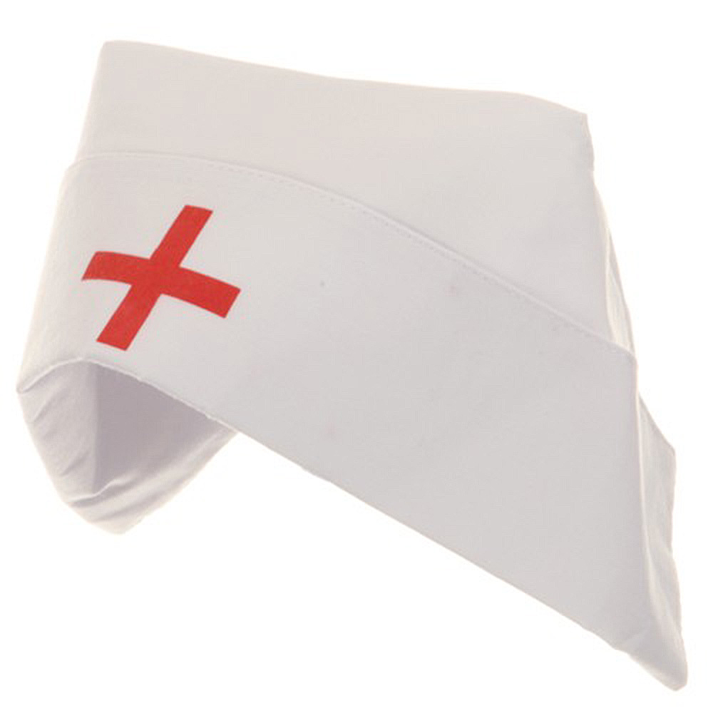 Nurse Hat with Button - White - Hats and Caps Online Shop - Hip Head Gear
