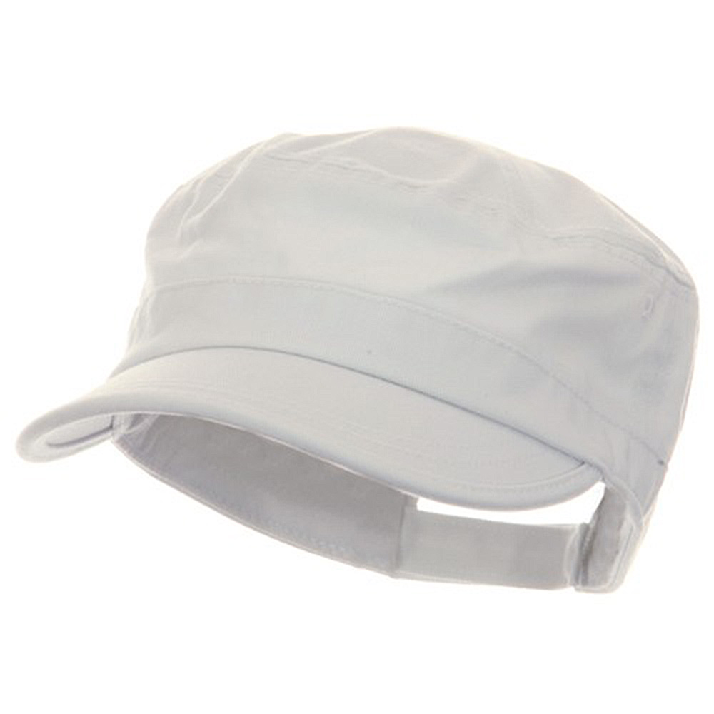 Pet Spun Washed Army Cap - White - Hats and Caps Online Shop - Hip Head Gear