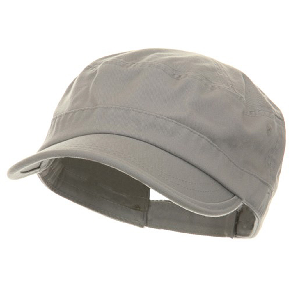 Pet Spun Washed Army Cap - Grey - Hats and Caps Online Shop - Hip Head Gear