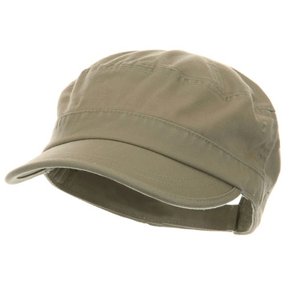Pet Spun Washed Army Cap - Khaki - Hats and Caps Online Shop - Hip Head Gear