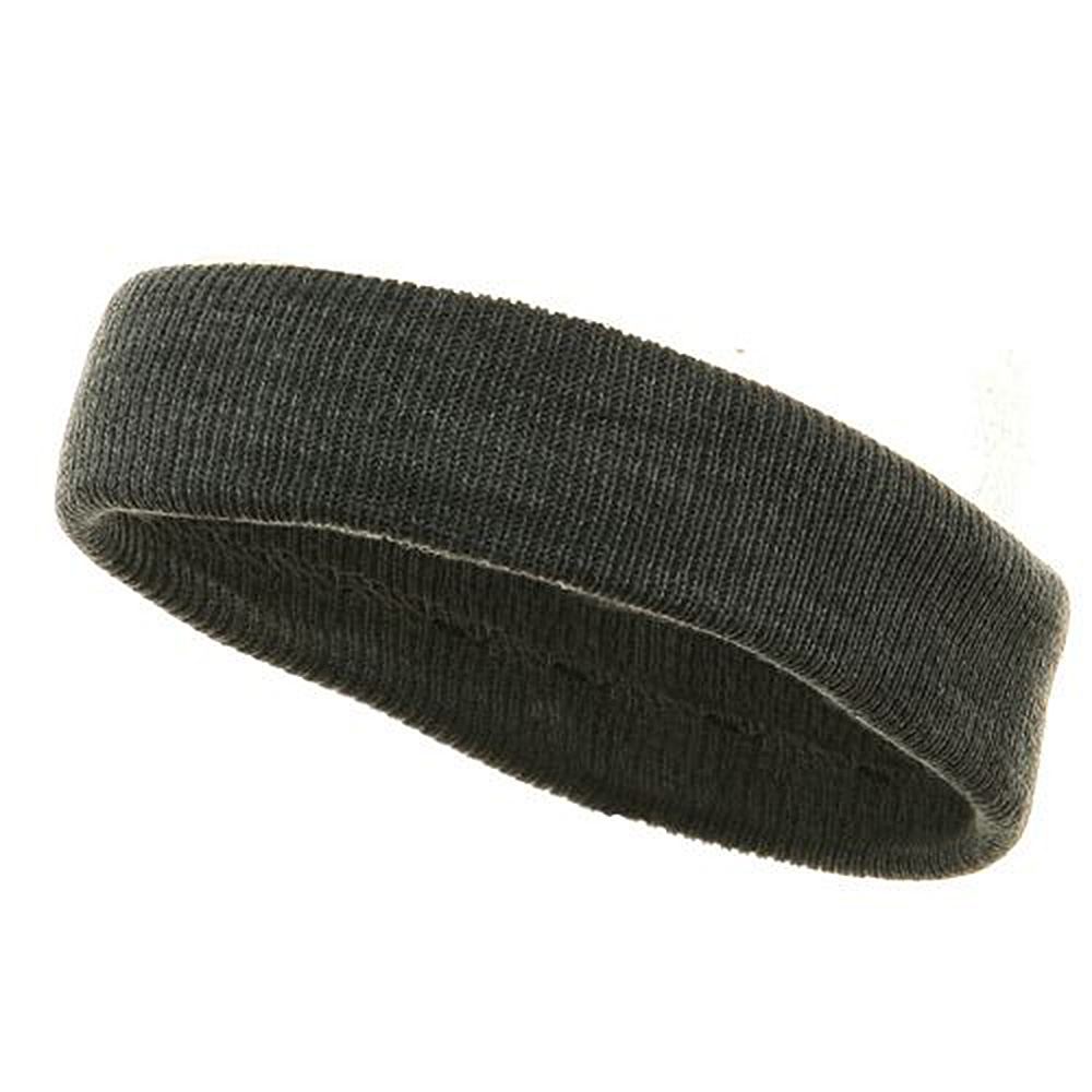 Headband(regular)-Dk Grey - Hats and Caps Online Shop - Hip Head Gear