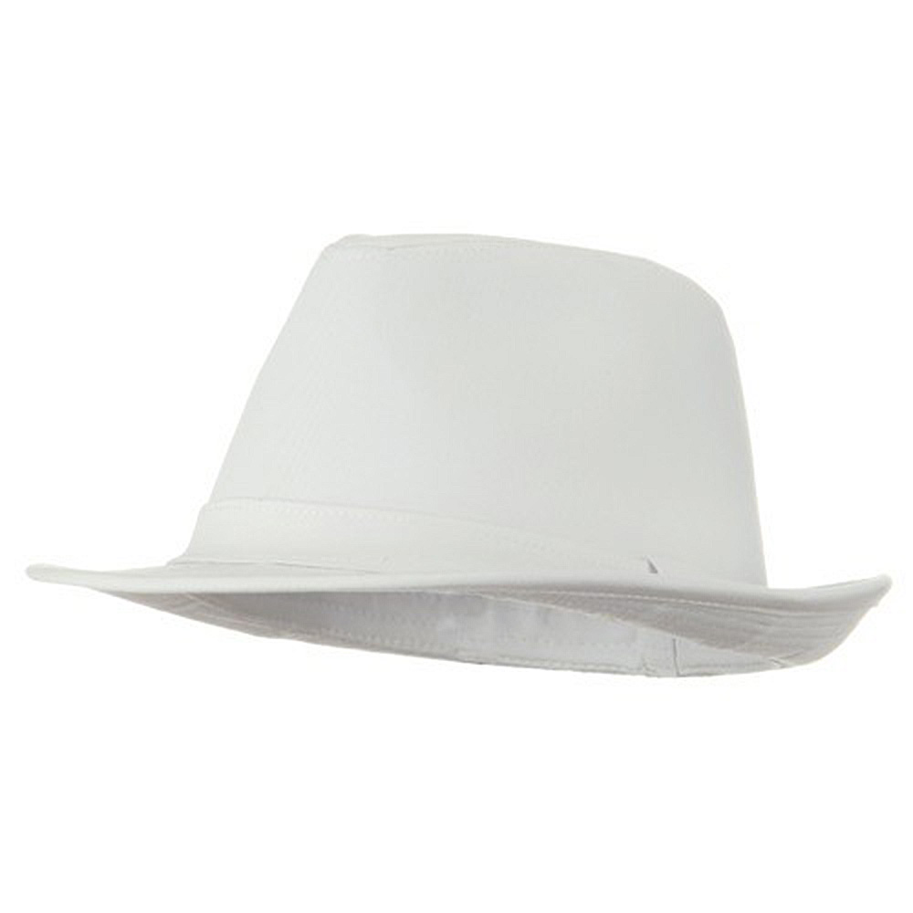 Big Size Cotton Solid Fedora Hat - White - Hats and Caps Online Shop - Hip Head Gear